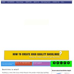 how to create high quality backlinks