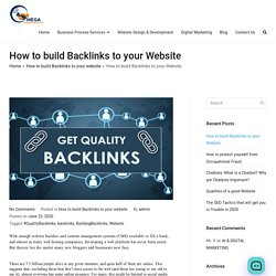 How to build Backlinks to your Website - Omega Consultants