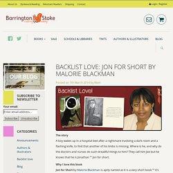 Backlist Love: Jon for Short by Malorie Blackman