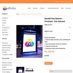 Backlit Flex Banner - Premium Eco Solvent Prints - Order Online – Mudraka