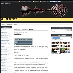 BackMan ~ All Free VST - Best Free Vst