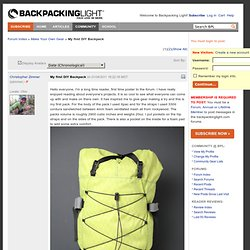 Make Your Own Gear » My first DIY Backpack