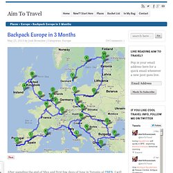 Backpack Europe in 3 Months