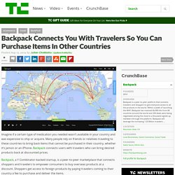 Backpack Connects You With Travelers So You Can Purchase Items In Other Countries