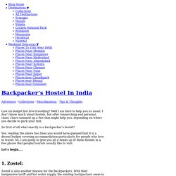 Backpacker's Hostel In India - Holidify