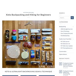 Keto backpacking food basics for ultralight backpacking and thru-hiking.