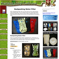 Backpacking Water Filter Hydration Pack