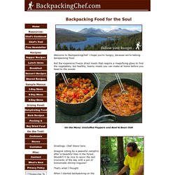 Backpacking Food for the Soul
