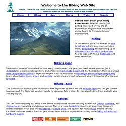 Hiking Web Site - Hiking, Camping, and Backpacking Information & Gear