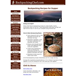 Tasty Backpacking Recipes