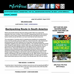 Backpacking Route in South America