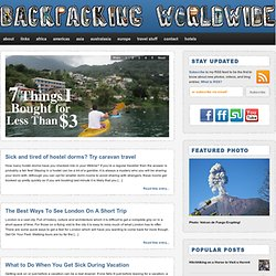 Backpacking Worldwide — Around the World Backpacking Blog