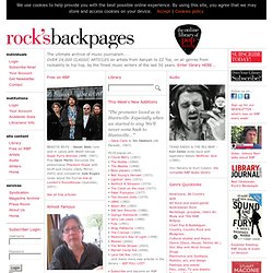 Rock's Backpages: Rock reviews, rock articles & rock interviews