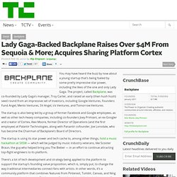 Lady Gaga-Backed Backplane Raises Over $4M From Sequoia & More; Acquires Sharing Platform Cortex