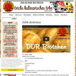 DDR-Brötchen - Essen in der DDR: Koch- und Backrezepte für ostdeutsche Gerichte