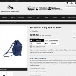 Backsack - Navy Blue & Black