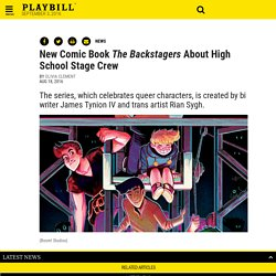 New Comic Book The Backstagers About High School Stage Crew