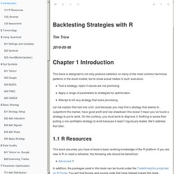 Backtesting Strategies with R