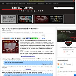 Tips to Improve Linux Backtrack 5 Performance | Ethical Hacking-Your Way To The World OF IT Security