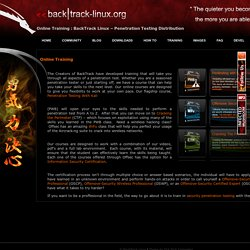 Online BackTrack Security Training by Offensive Security