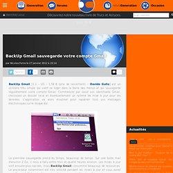 BackUp Gmail sauvegarde votre compte Gmail