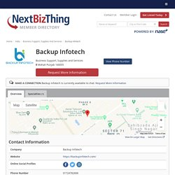 Backup Infotech