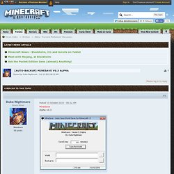 [Auto-Backup] MineSave v0.3 Alpha - Minecraft Forums