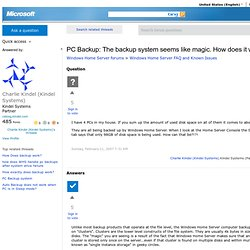 PC Backup: The backup system seems like magic. How does it work?