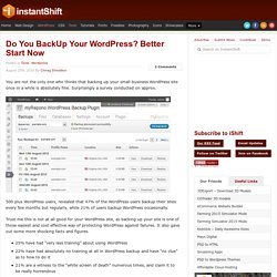 Do You BackUp Your WordPress? Better Start Now