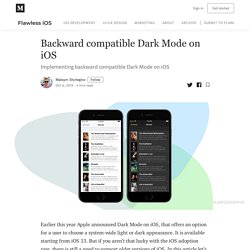 Backward Compatible Dark Mode (Theme - Color)