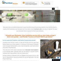 Backwater Valve Installation in Toronto