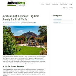 Best Small Backyard Design Ideas With Artificial Turf in Phoenix