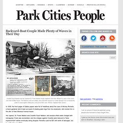 Backyard-Boat Couple Made Plenty of Waves in Their Day « Park Cities People