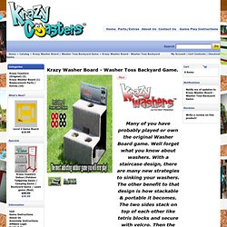 Cornhole Game - Krazy Washer Board / Washer Toss Backyard Game - Krazy Washer Board - Washer Toss Backyard Game.