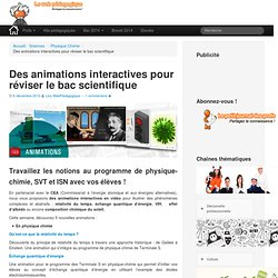 Des animations interatives en sciences pour réviser le bacLeWebPédagogique