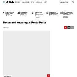 Bacon and Asparagus Pesto Pasta