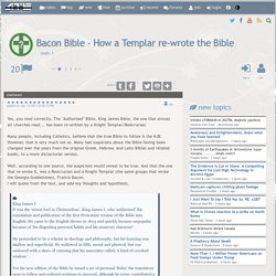 Bacon Bible - How a Templar re-wrote the Bible, page 1