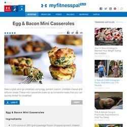 Egg & Bacon Mini Casseroles - Under Armour