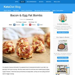 Bacon & Egg Fat Bombs