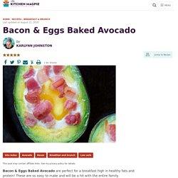 Bacon & Eggs Baked Avocado