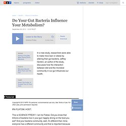 Do Your Gut Bacteria Influence Your Metabolism?