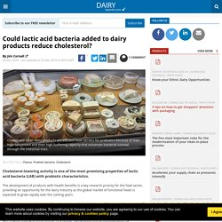 Could lactic acid bacteria added to dairy products reduce cholesterol?