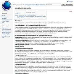 Elimination Bactéries fécales (Pathogène)