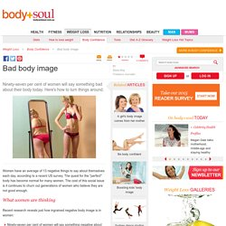 Bad body image