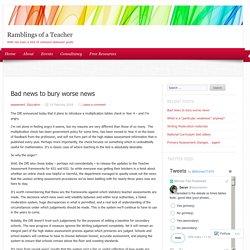 Bad news to bury worse news