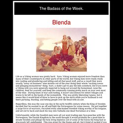 The Badass of the Week: Blenda and the Women of Smaland