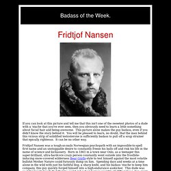 Fridtjof Nansen - StumbleUpon