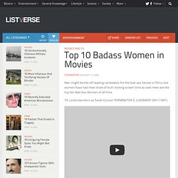 Top 10 Badass Women in Movies