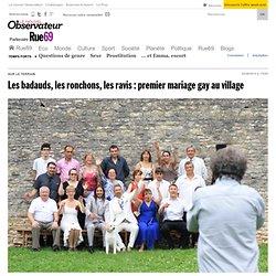 Les badauds, les ronchons, les ravis: premier mariage gay au village