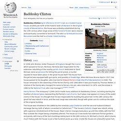 Baddesley Clinton: Wikipedia